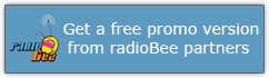 Get a free promo version from radioBee partners